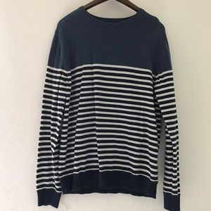 Striped crew neck sweater Men's